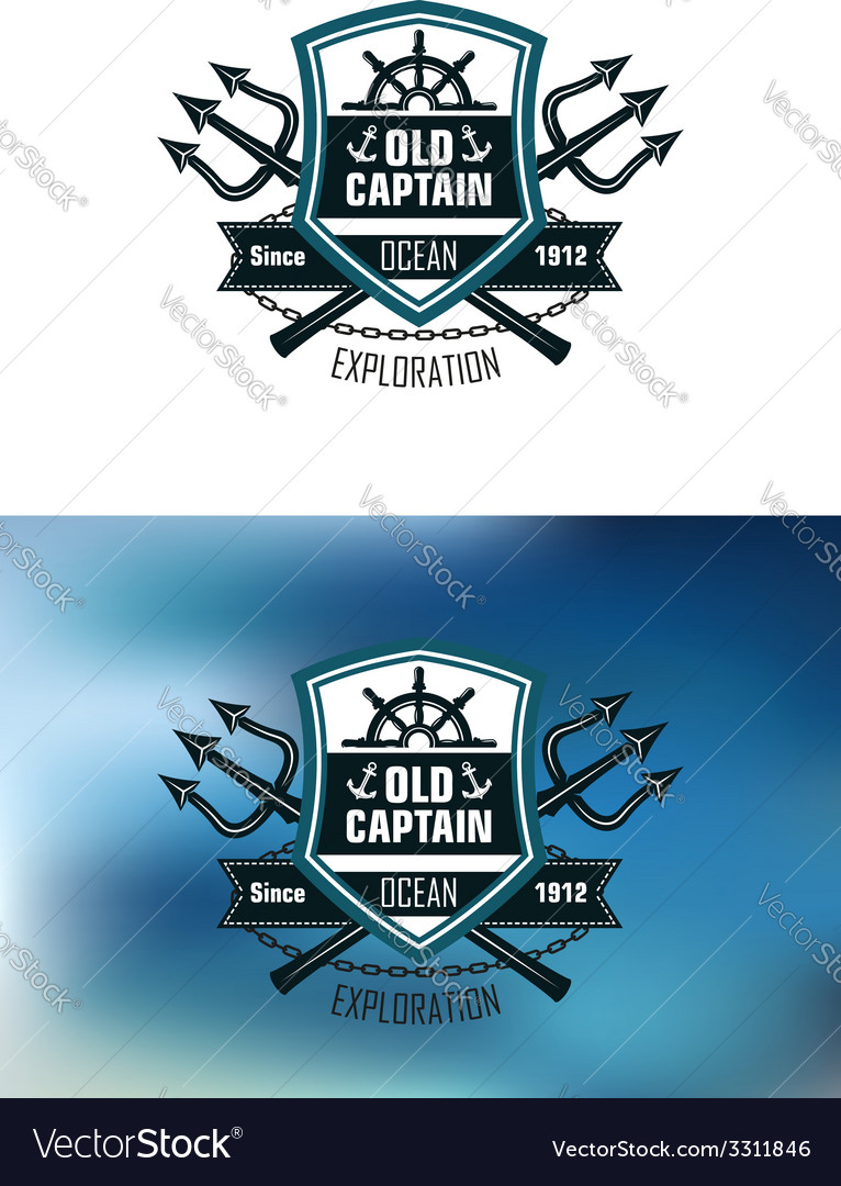 Nautical badges for ocean exploration vector | Price: 1 Credit (USD $1)