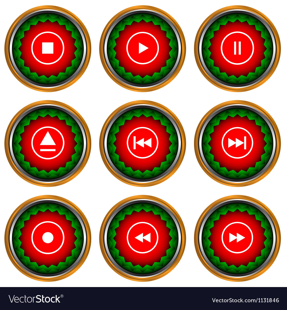 Player icons set vector   Price: 1 Credit (USD $1)