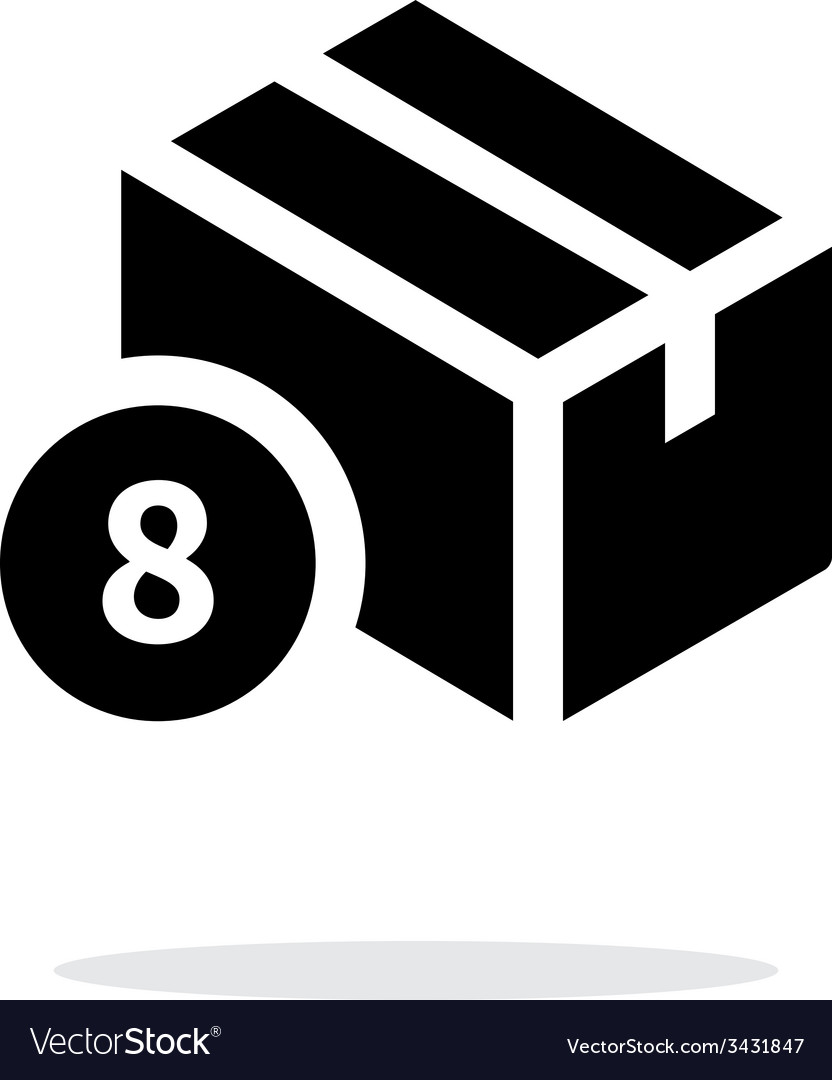 Box with number simple icon on white background vector | Price: 1 Credit (USD $1)