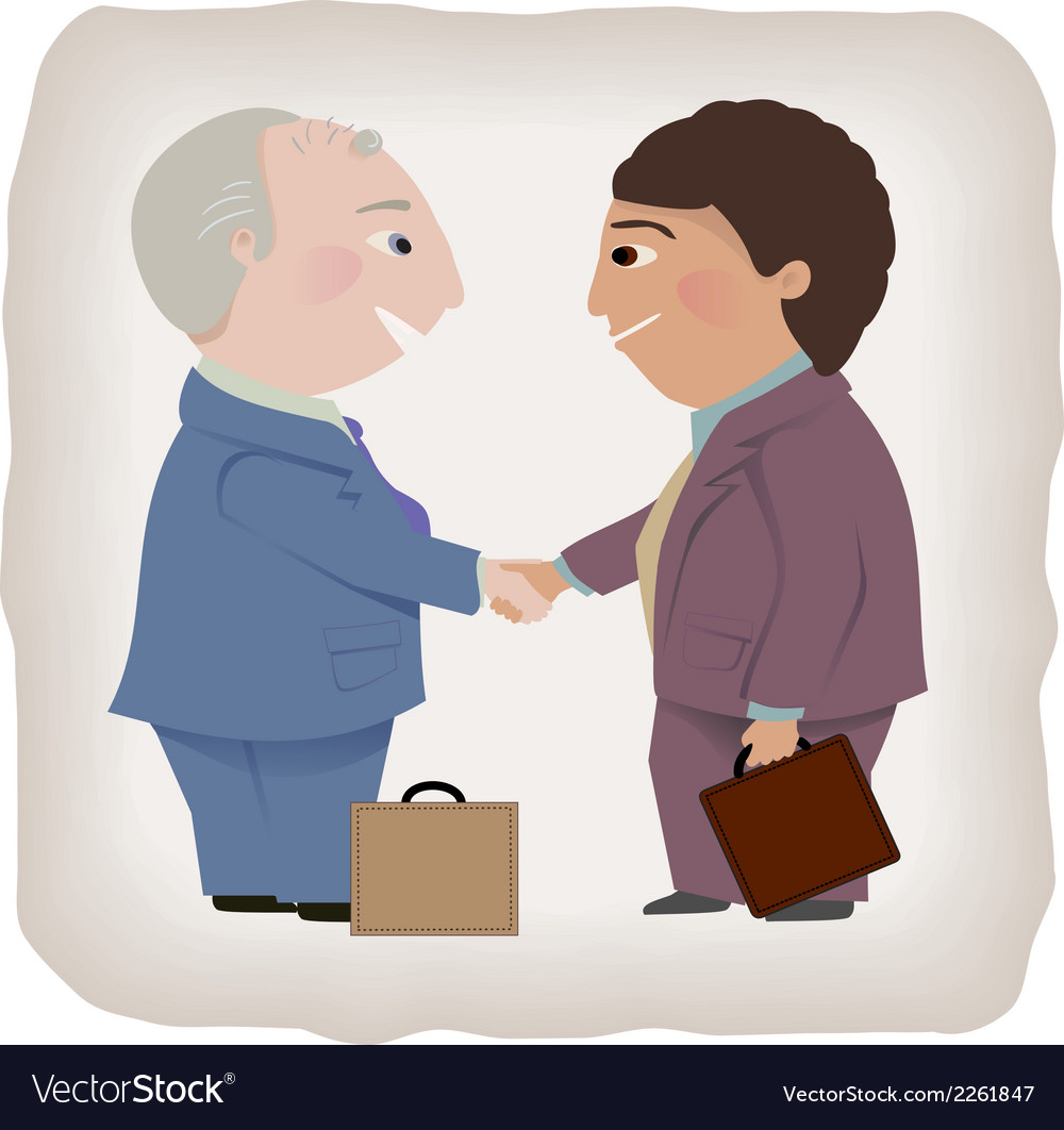 Business deal handshake vector | Price: 1 Credit (USD $1)