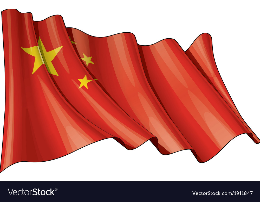 China flag grunge vector | Price: 1 Credit (USD $1)