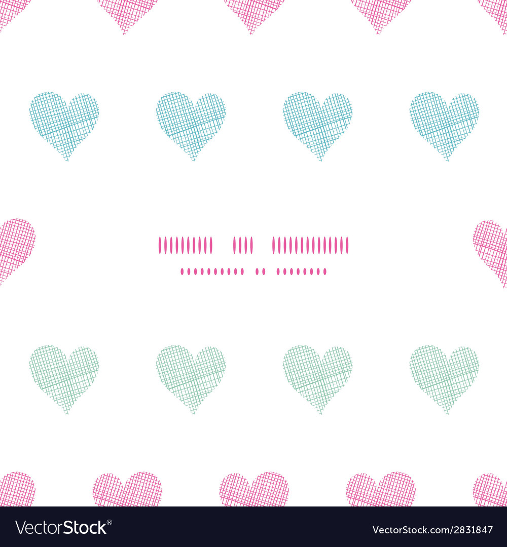 Colorful polka dot textile hearts center frame vector | Price: 1 Credit (USD $1)