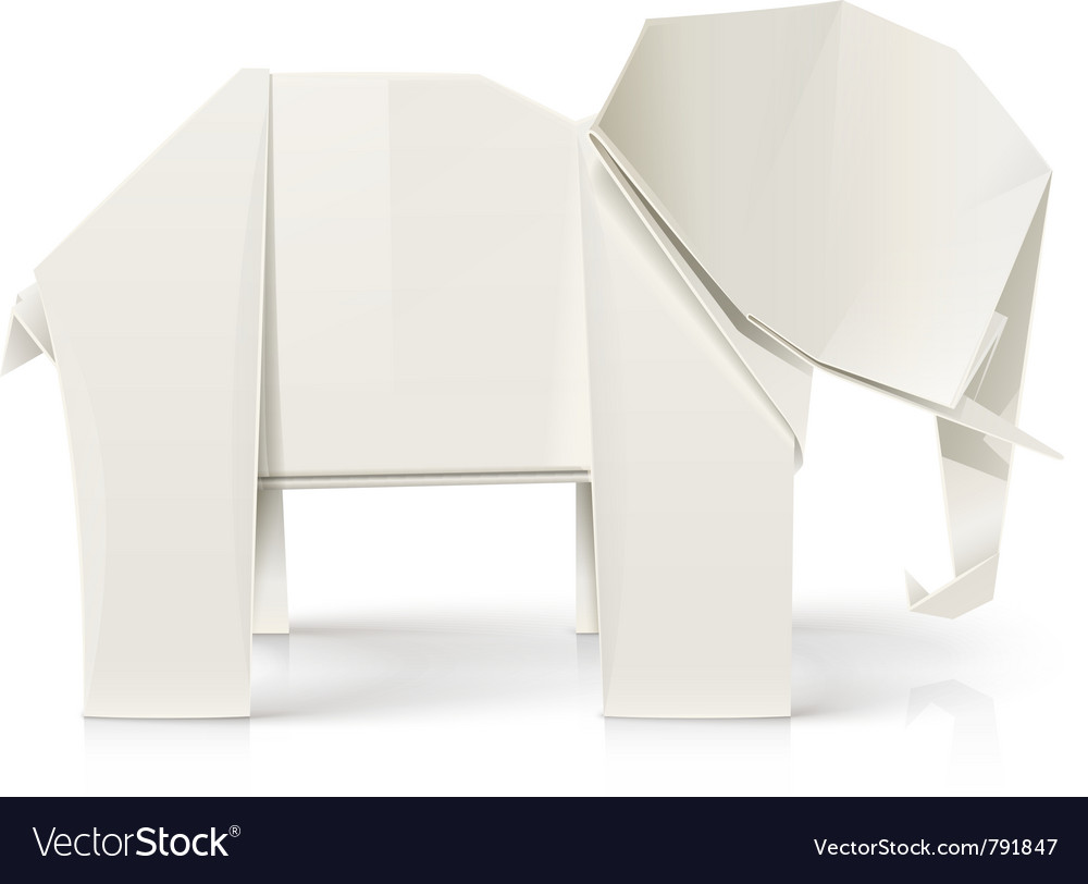 Elephant origami paper toy vector   Price: 3 Credit (USD $3)