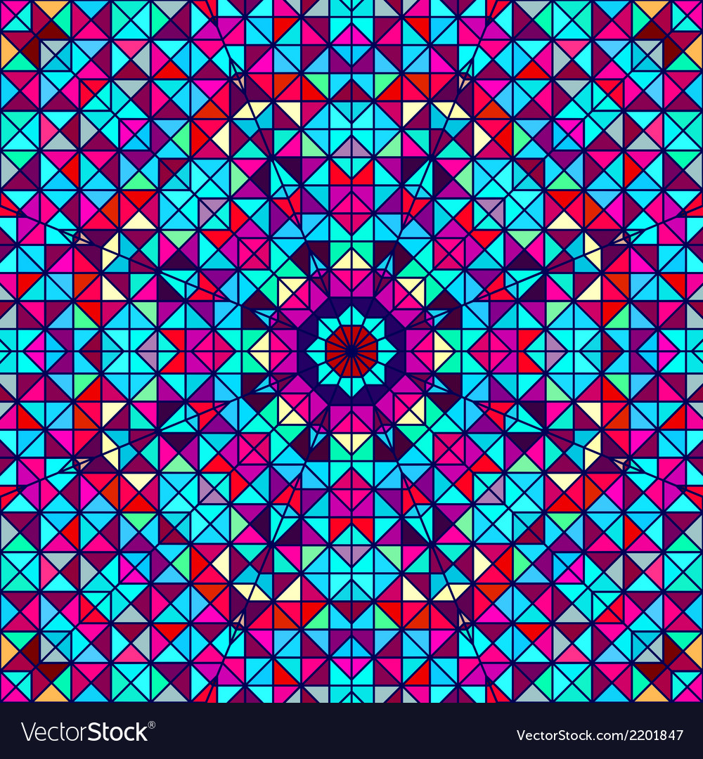 Geometric color abstract retro pattern vector | Price: 1 Credit (USD $1)