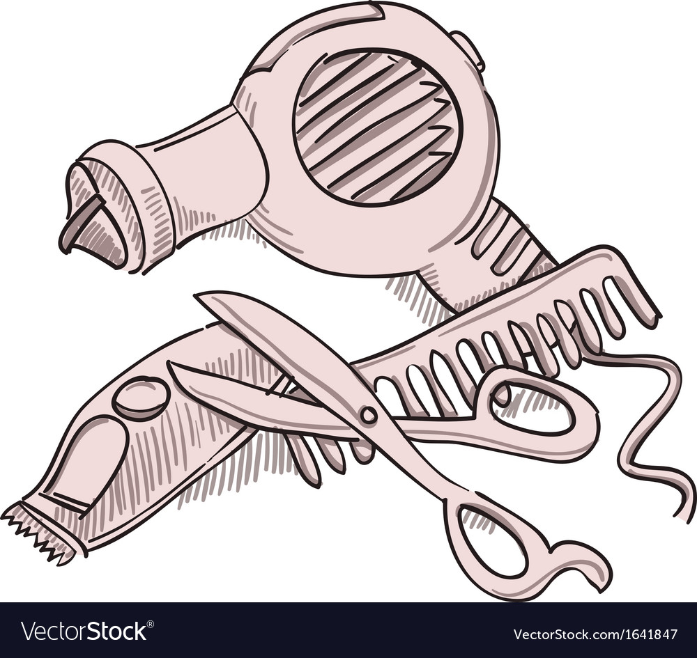 Hairdresser equipment vector | Price: 1 Credit (USD $1)