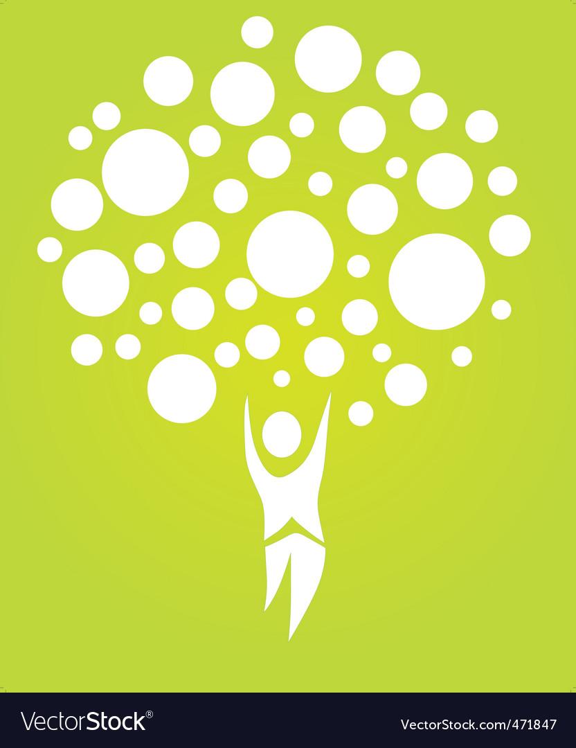 Human tree vector | Price: 1 Credit (USD $1)