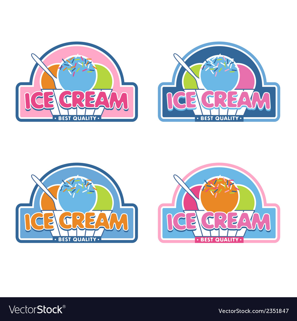 Ice cream logo vector | Price: 1 Credit (USD $1)