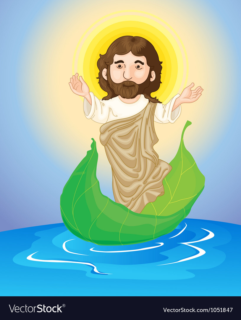 Jesus floating vector | Price: 1 Credit (USD $1)