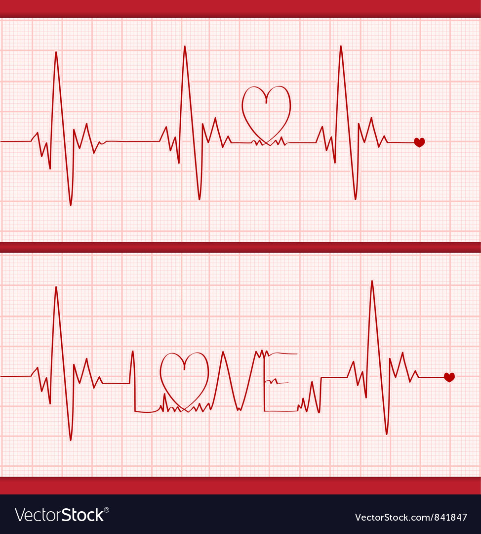 Love cardiogram vector | Price: 1 Credit (USD $1)