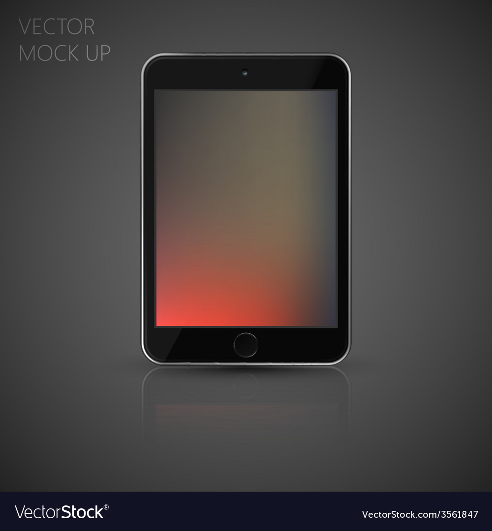 Mock up tablet computer for your design of vector | Price: 1 Credit (USD $1)