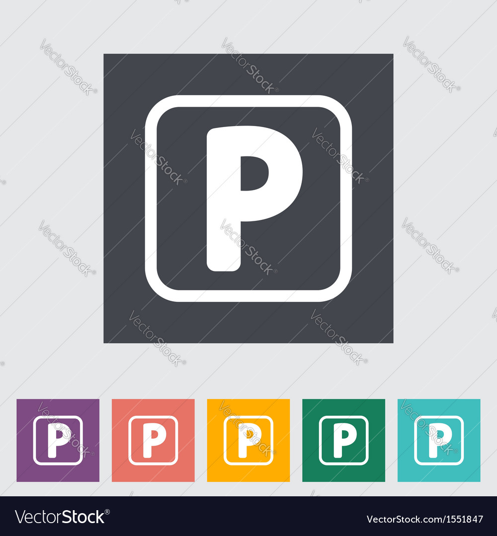 Parking symbol vector | Price: 1 Credit (USD $1)