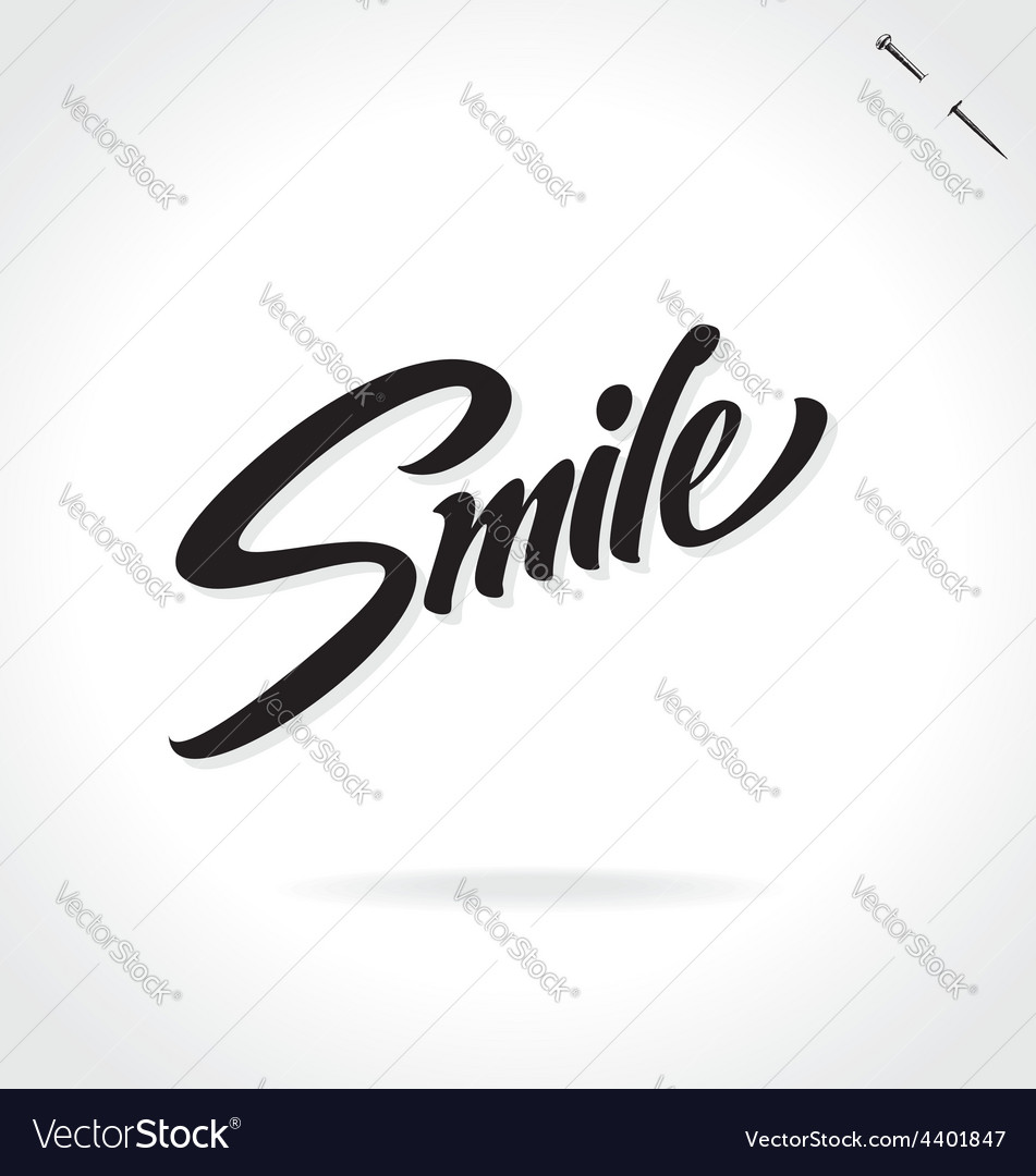 Smile original custom hand lettering vector | Price: 1 Credit (USD $1)