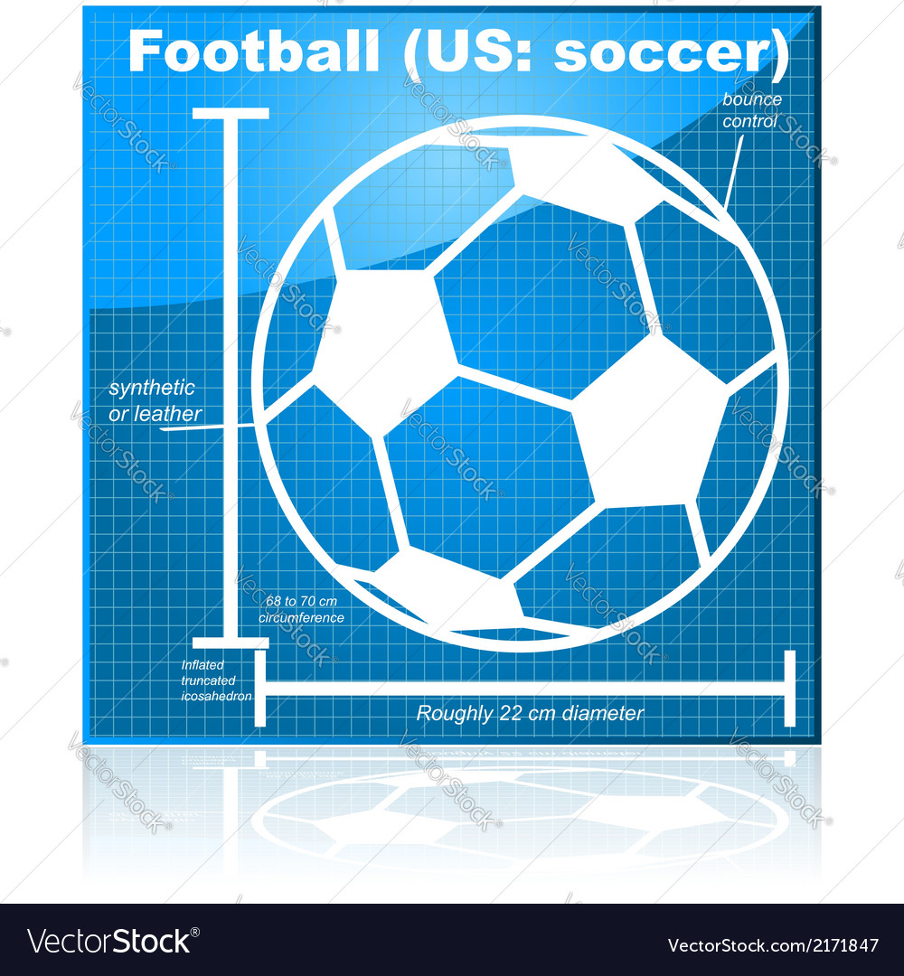 Soccer blueprint vector | Price: 1 Credit (USD $1)