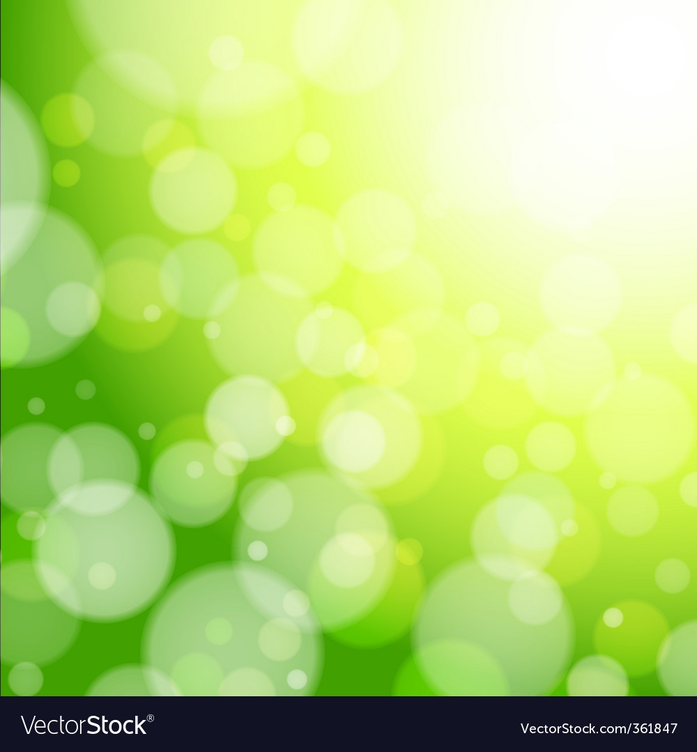 Spring forest bokeh vector | Price: 1 Credit (USD $1)