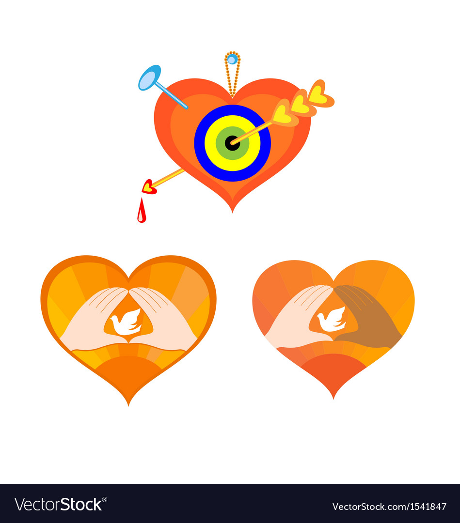 Three hearts as elements for design vector | Price: 1 Credit (USD $1)