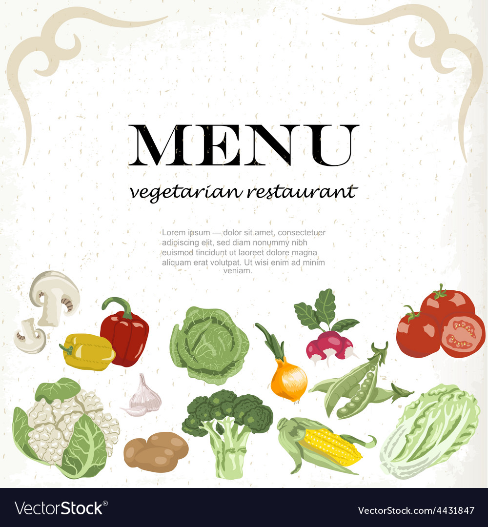 Vegetarian meals are available horizontal vector | Price: 1 Credit (USD $1)