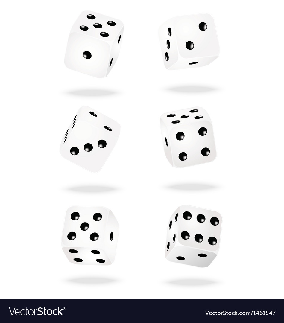 White dices vector | Price: 1 Credit (USD $1)
