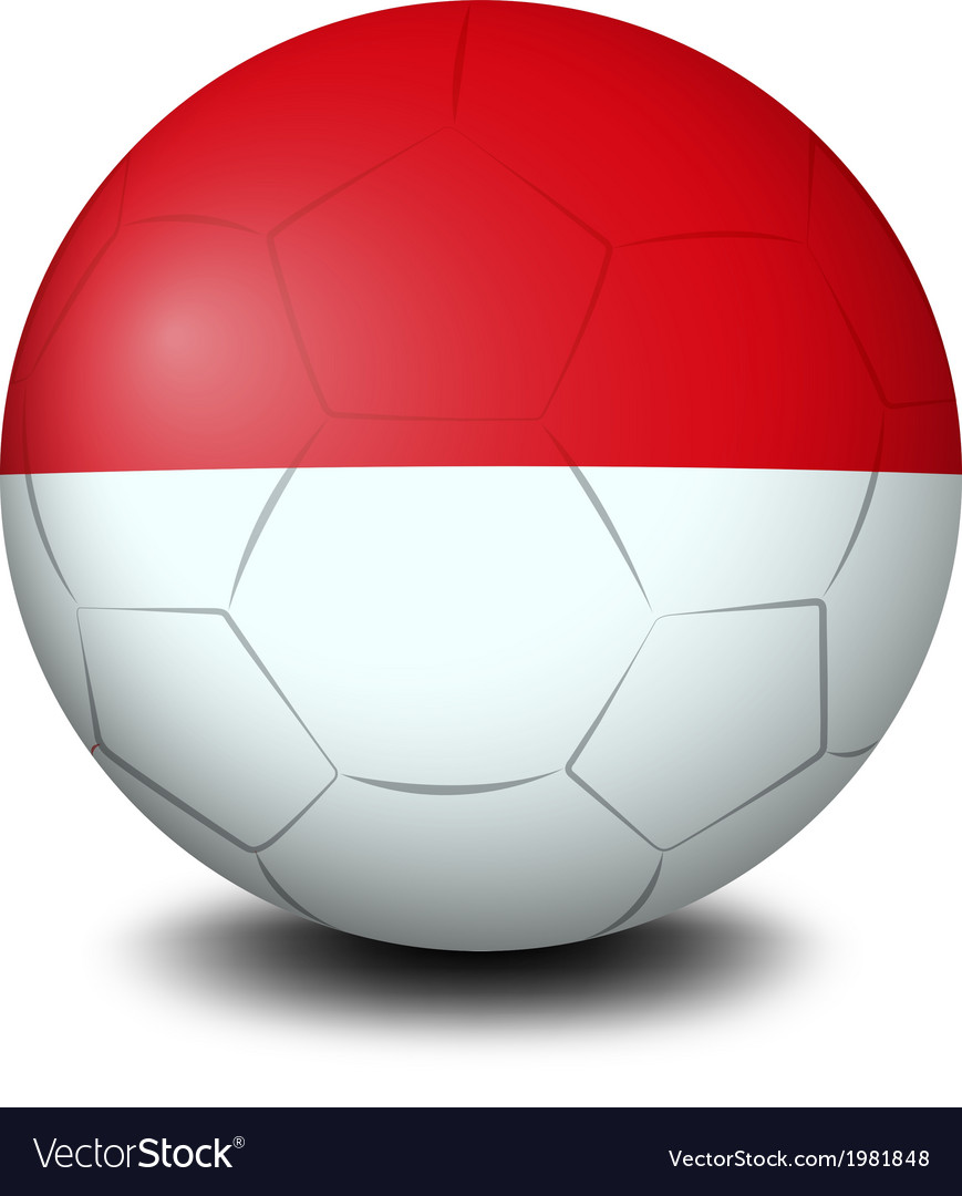 A soccer ball with the indonesian flag vector | Price: 1 Credit (USD $1)