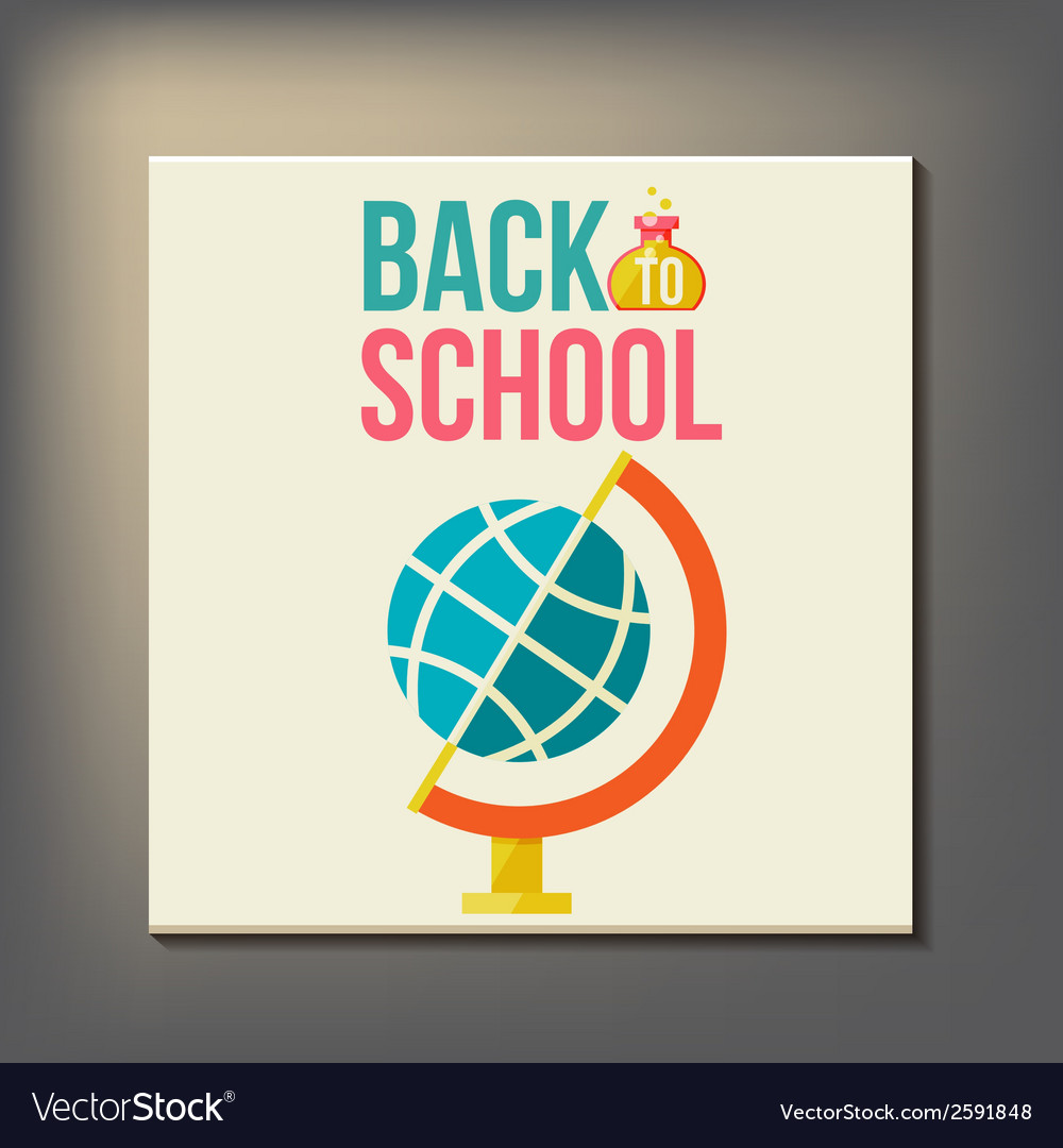 Back to school design template vector   Price: 1 Credit (USD $1)