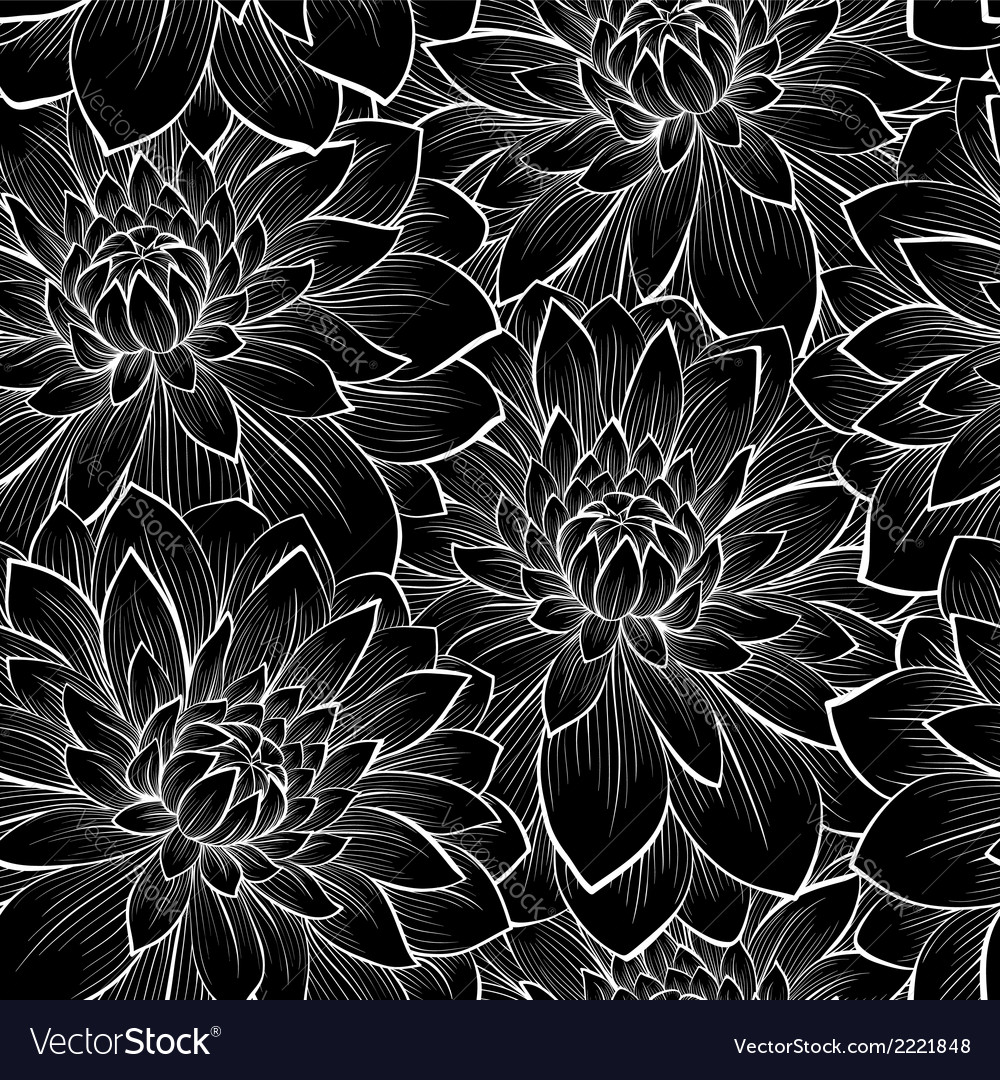 Background with monochrome black and white flower vector | Price: 1 Credit (USD $1)
