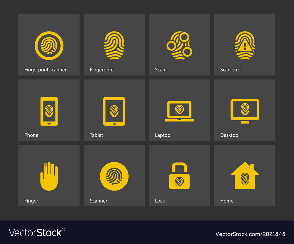 Finger scanner icons vector | Price: 1 Credit (USD $1)