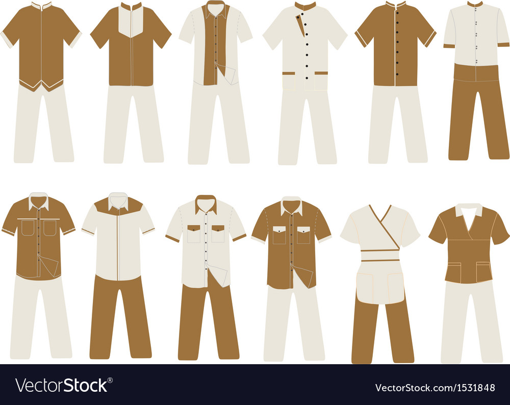 Hotel and villa uniform vector | Price: 1 Credit (USD $1)