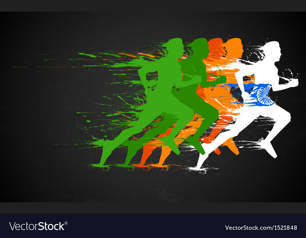 Indian runners vector | Price: 1 Credit (USD $1)