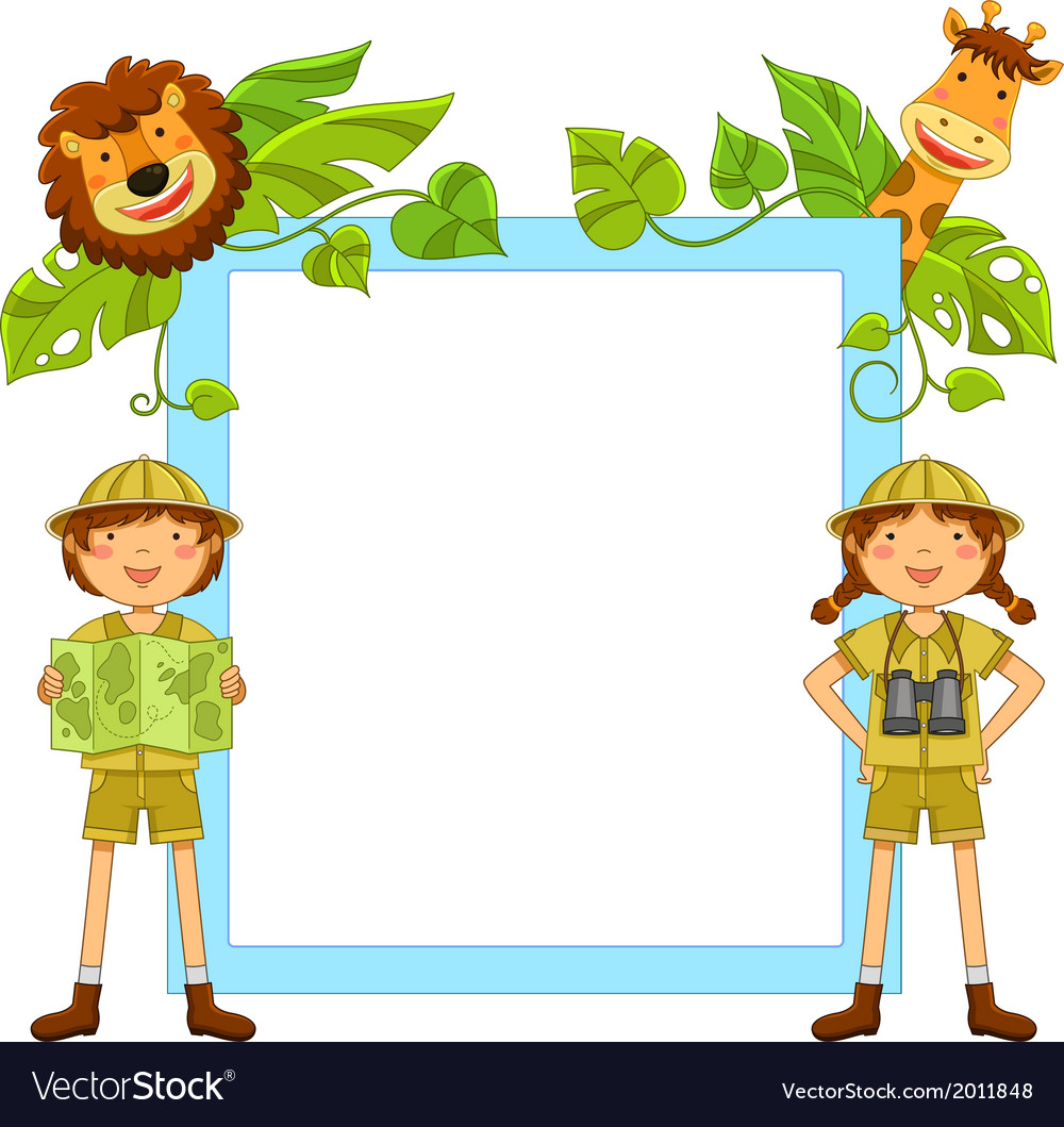 Kids in the jungle vector | Price: 1 Credit (USD $1)