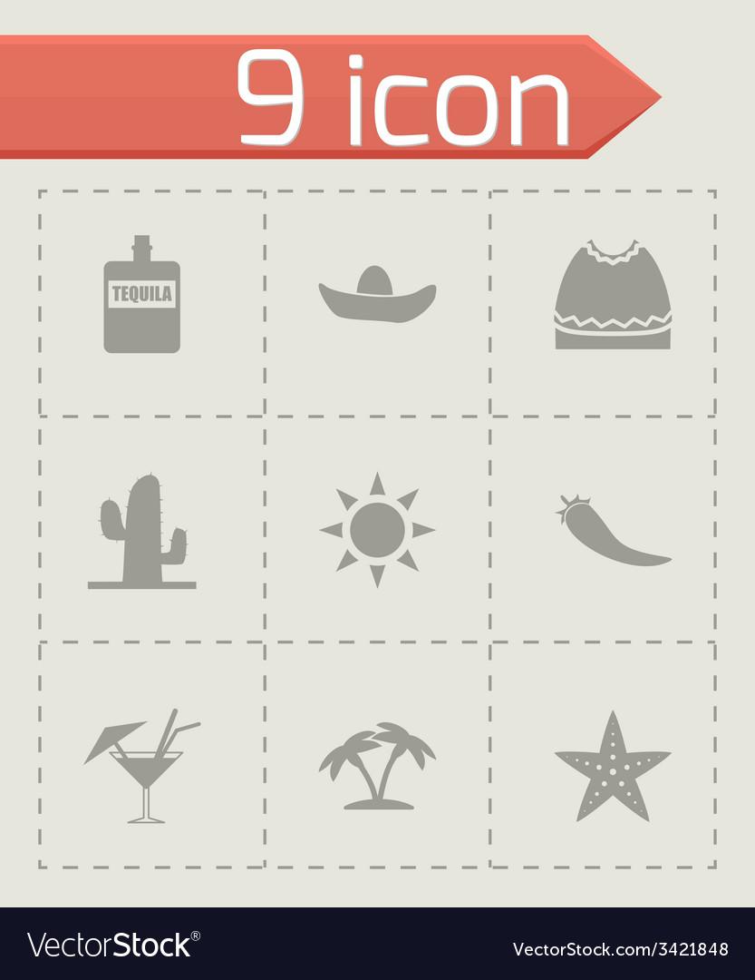 Mexico icon set vector | Price: 1 Credit (USD $1)