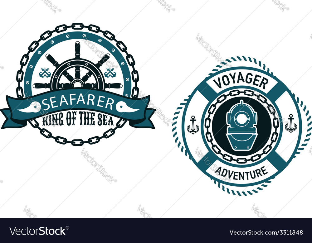Nautical themed emblems and symbols vector | Price: 1 Credit (USD $1)