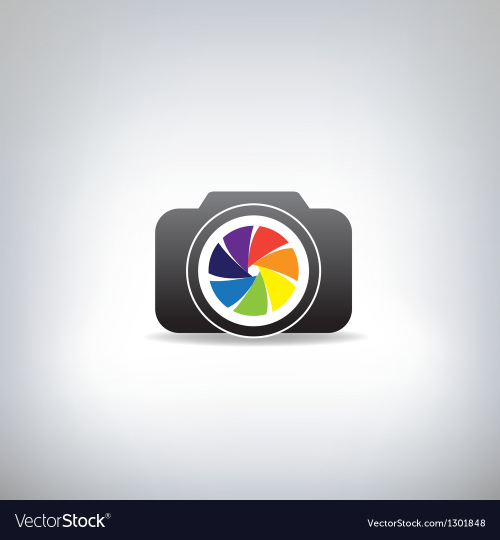 Stylized photo camera vector | Price: 1 Credit (USD $1)