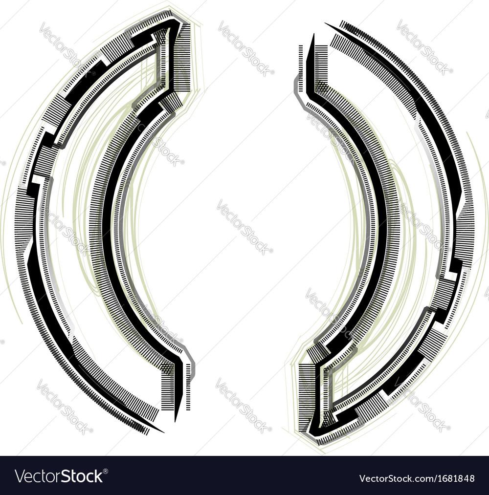 Technological font parenthesis symbol vector   Price: 1 Credit (USD $1)