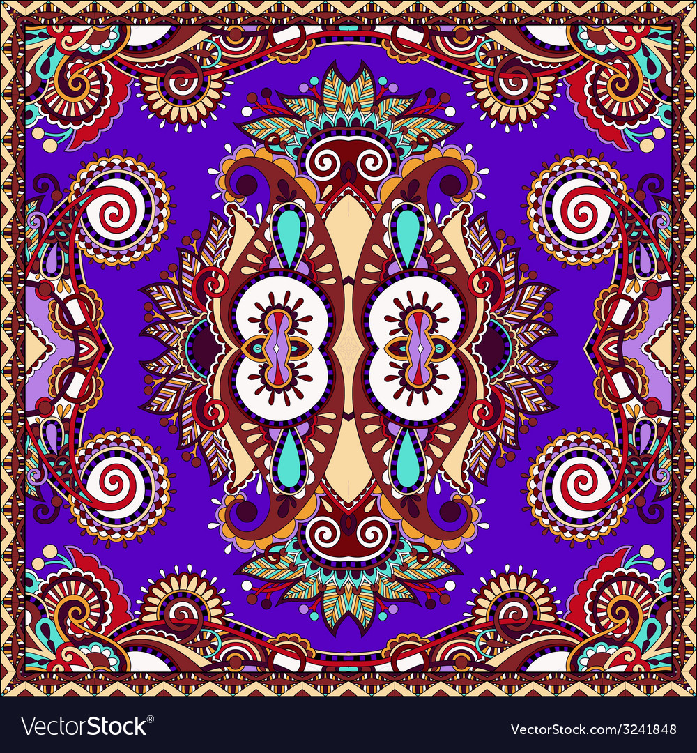 Traditional ornamental floral paisley violet vector   Price: 1 Credit (USD $1)