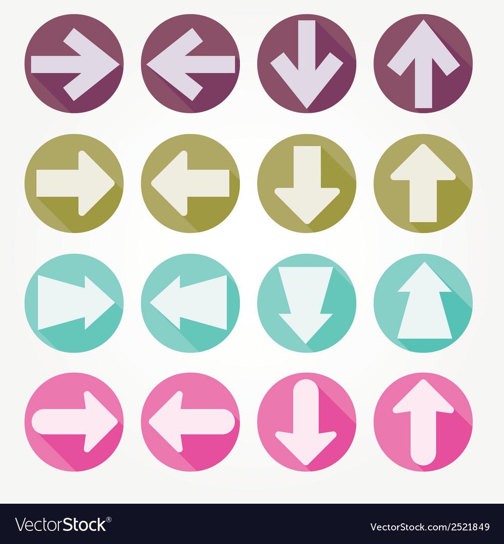 Arrow icons shadow vector | Price: 1 Credit (USD $1)