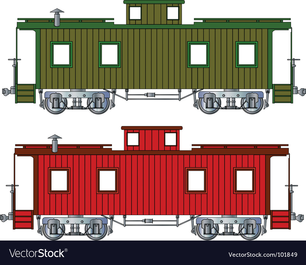 Caboose vector | Price: 1 Credit (USD $1)