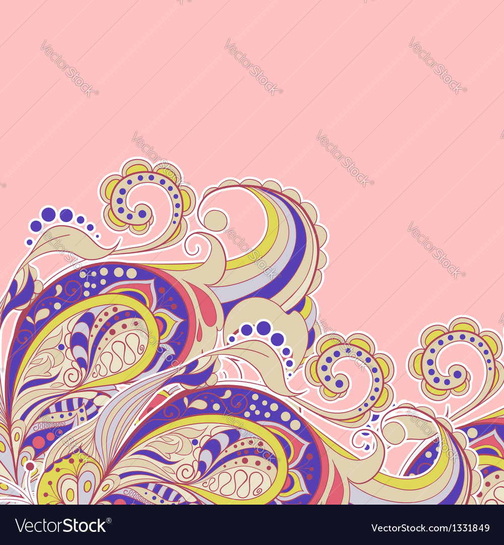 Decorative element border abstract invitation car vector | Price: 1 Credit (USD $1)