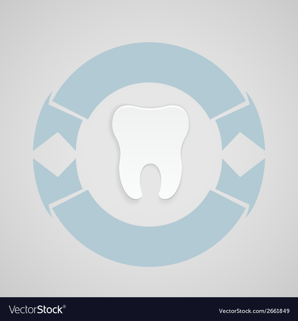 Dental emblem with blue corcle vector | Price: 1 Credit (USD $1)