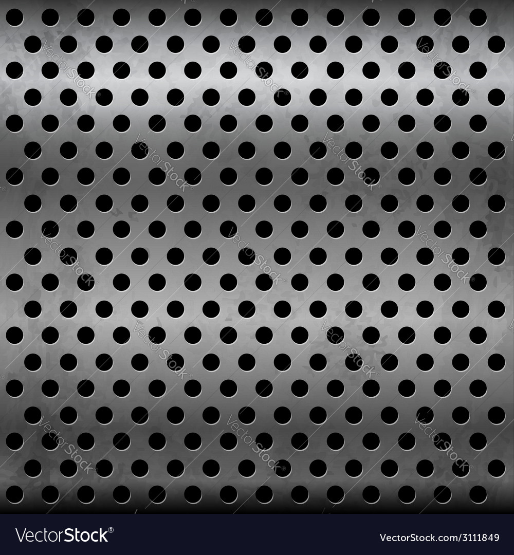 Gray metallic plate with perforation vector | Price: 1 Credit (USD $1)