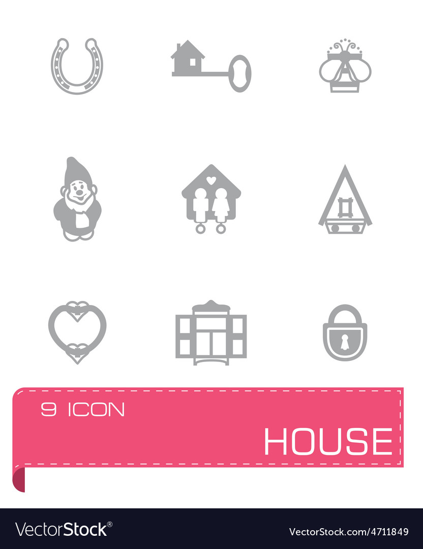 House icon set vector | Price: 1 Credit (USD $1)