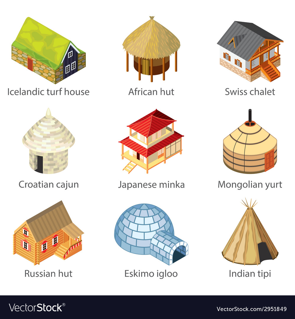 Houses of nations vector | Price: 3 Credit (USD $3)