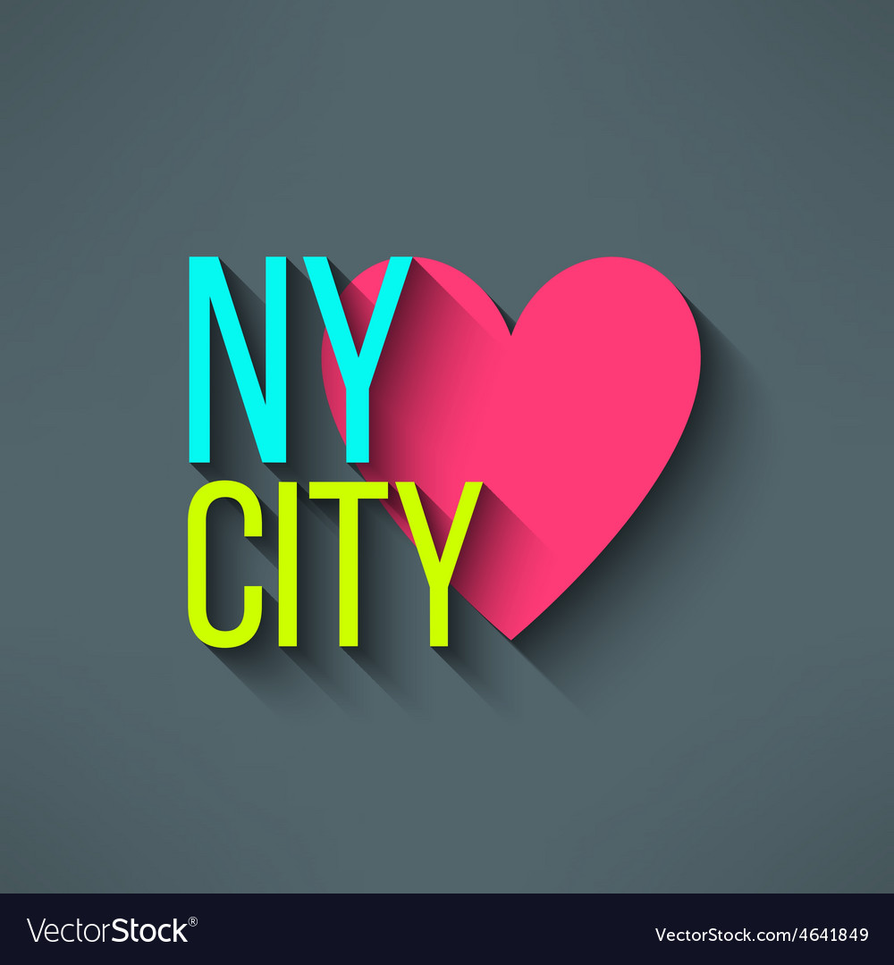 New york city love t-shirt design logo and vector | Price: 1 Credit (USD $1)
