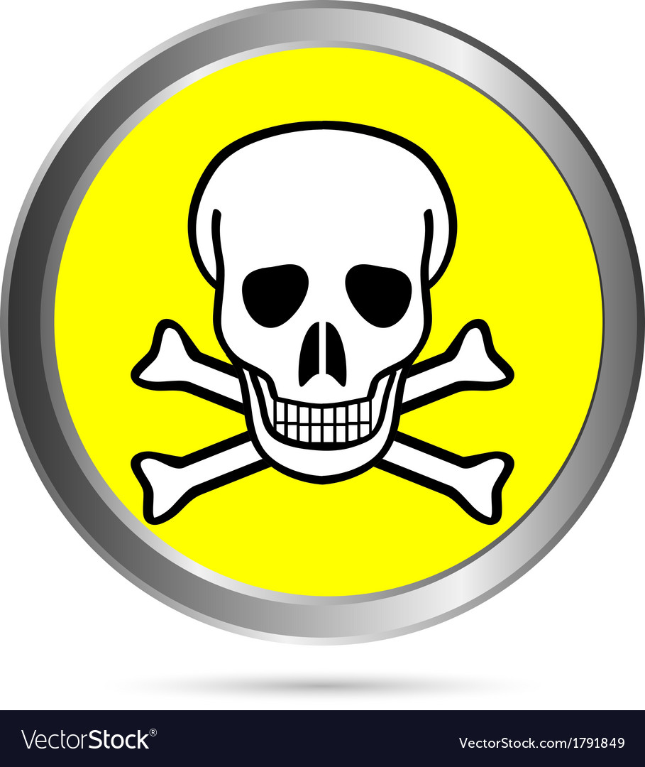 Poison sign button vector | Price: 1 Credit (USD $1)