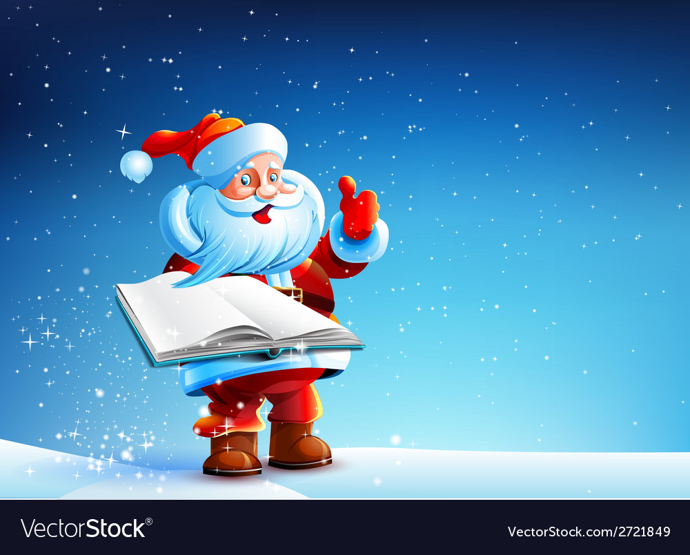 Santa with book vector | Price: 3 Credit (USD $3)