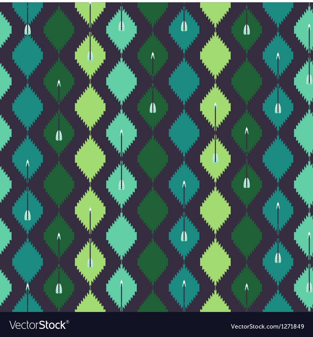 Seamless azteck colorful pattern with arrow vector | Price: 1 Credit (USD $1)