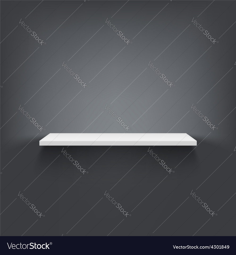 Shelf attached to the wall vector | Price: 1 Credit (USD $1)