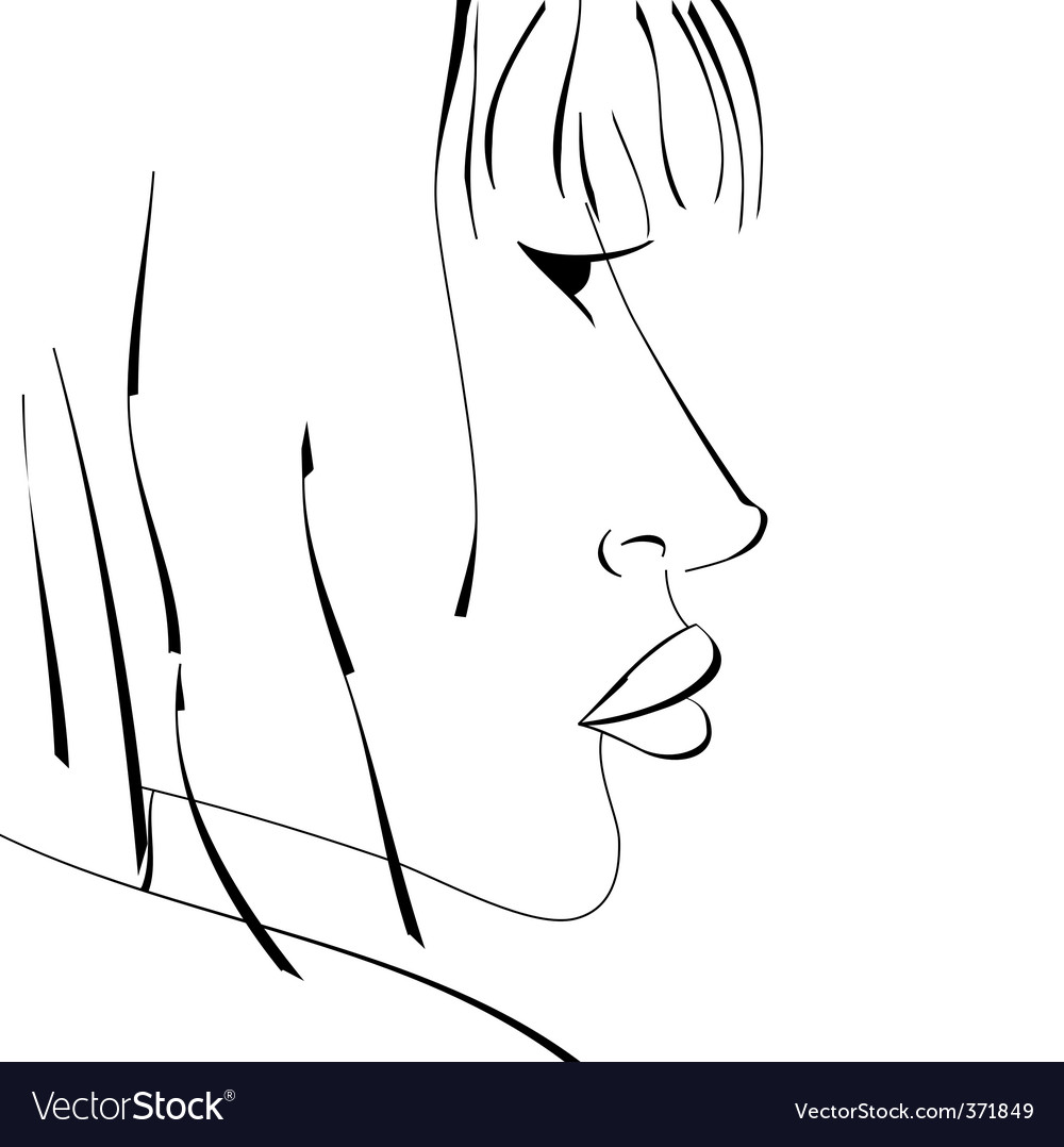 Sketch of woman vector | Price: 1 Credit (USD $1)