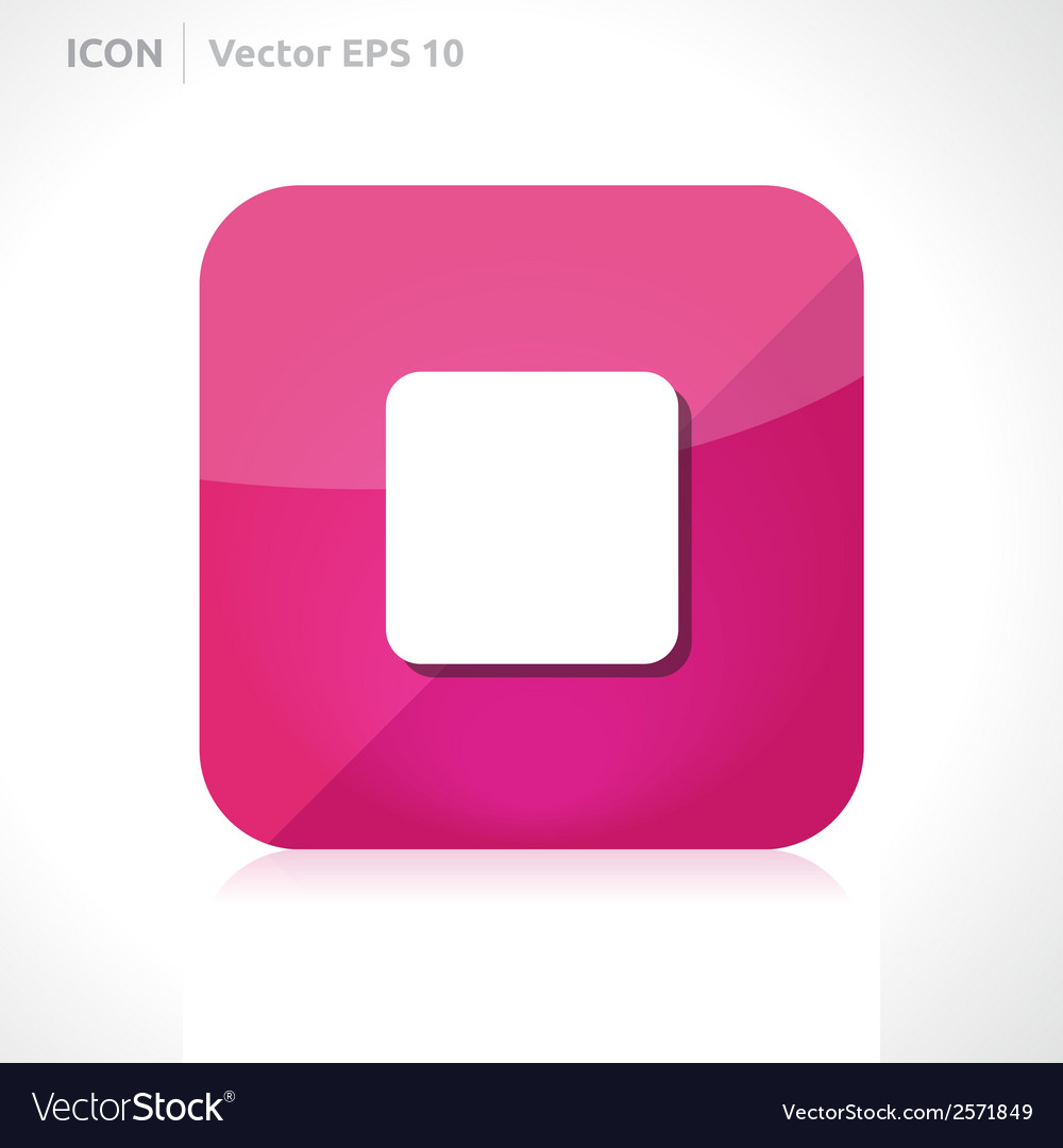 Stop icon vector | Price: 1 Credit (USD $1)