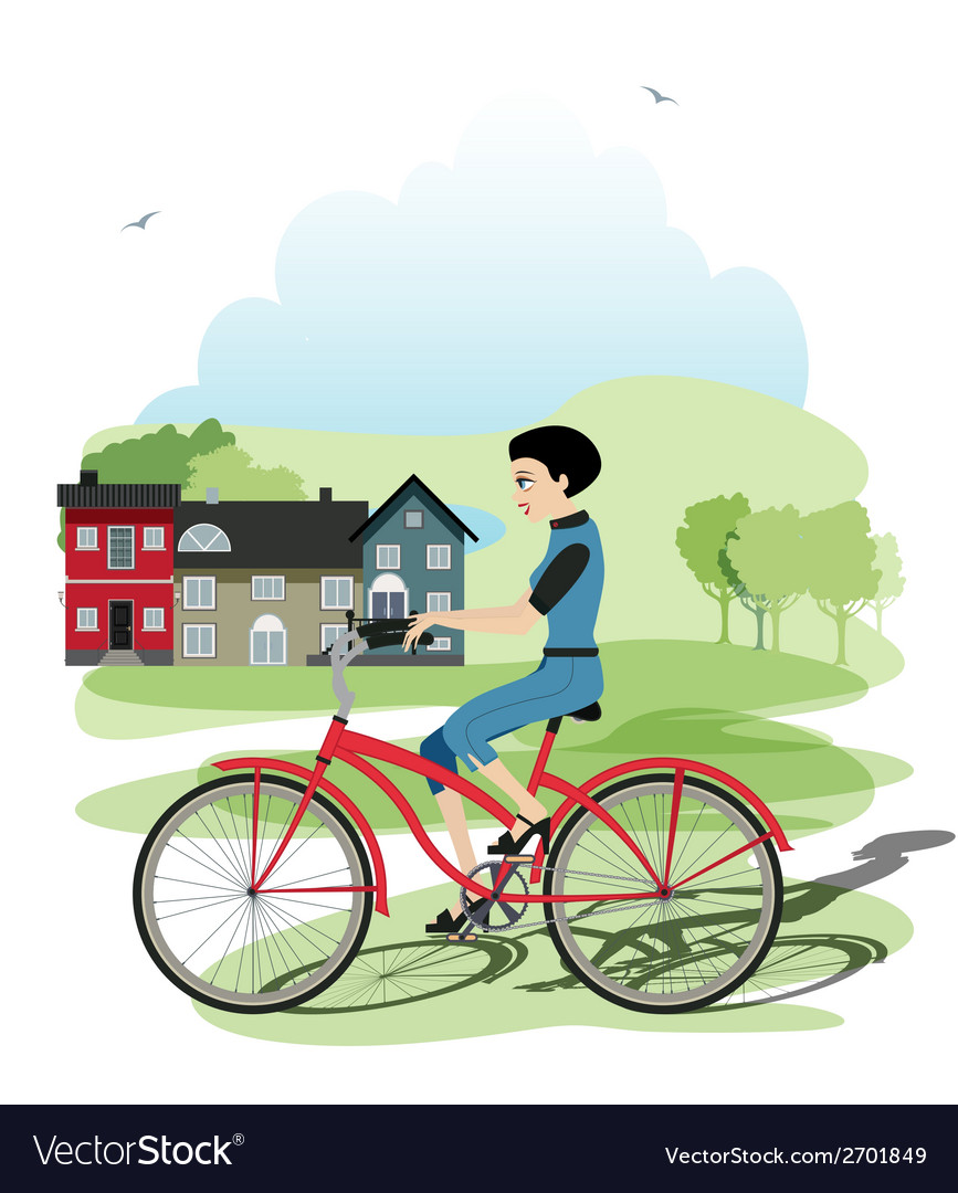 Young cyclists vector | Price: 1 Credit (USD $1)