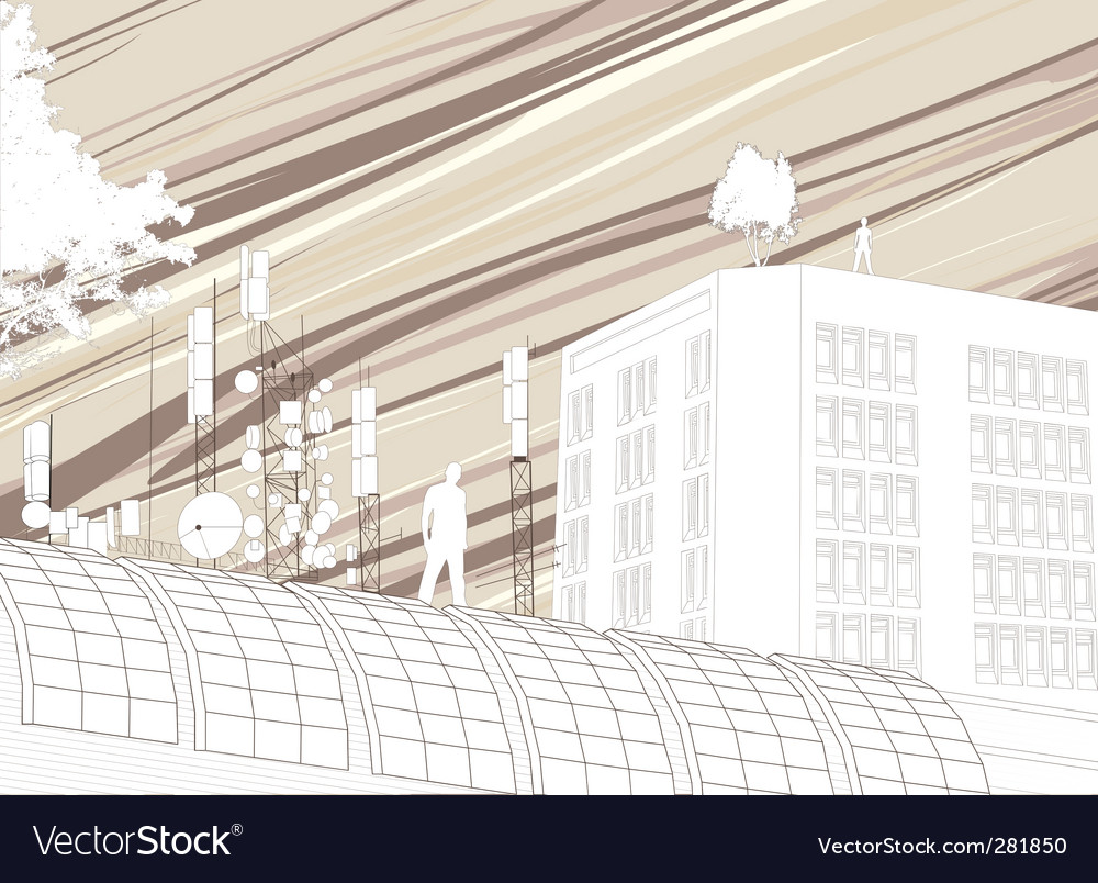 Abstract buildings vector | Price: 1 Credit (USD $1)