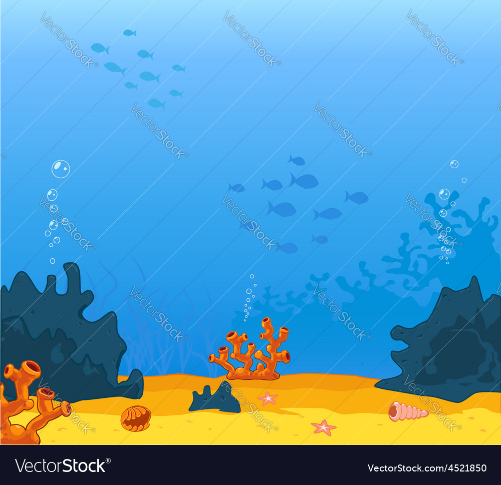 Background underwater vector | Price: 1 Credit (USD $1)